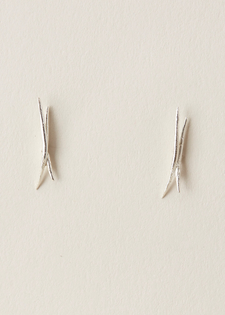 WWAKE Crossed Stick Wisp Earrings
