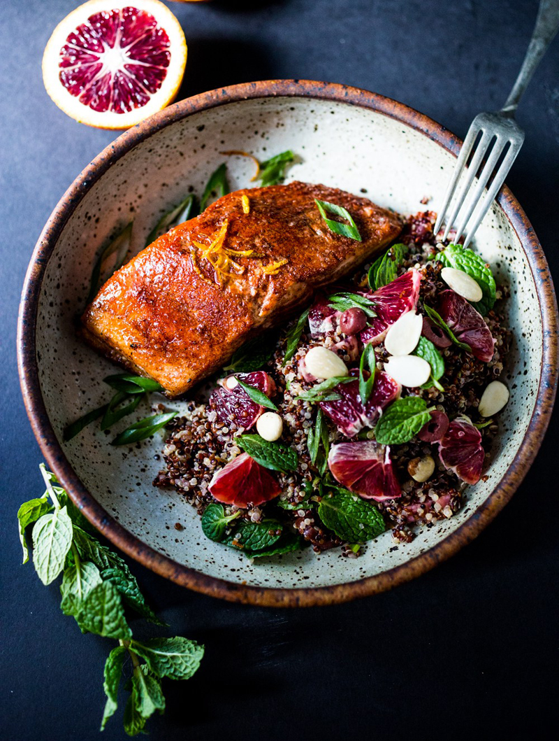 Moroccan salmon and quinoa, Feasting at Home