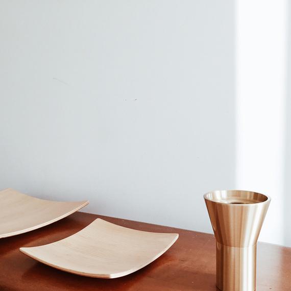 brass cone vase