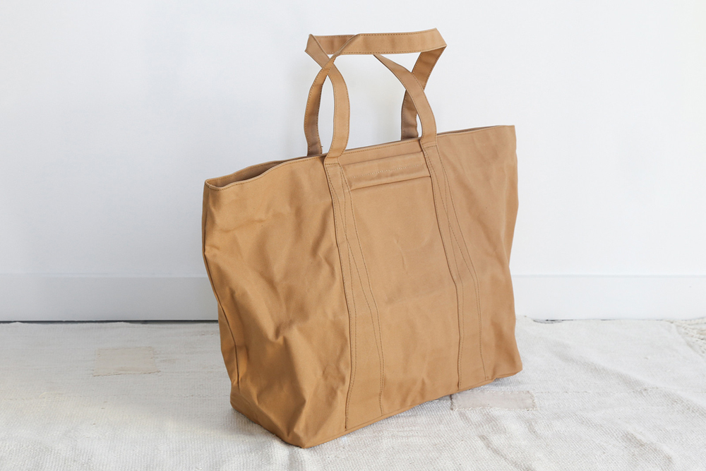 Fujito large camel canvas tote