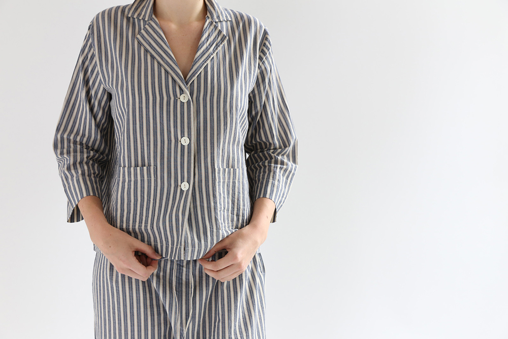 Domi striped pajama set