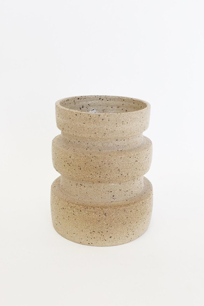 Ashley Hardy Sand Macro Rib Vase